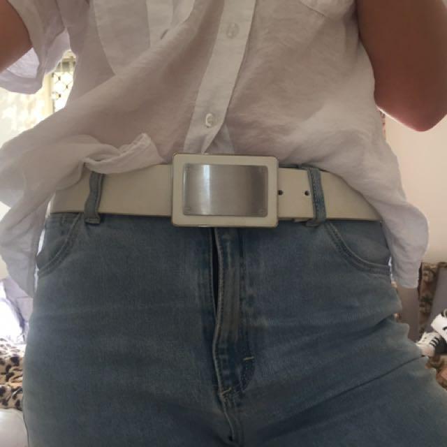 Original 1980s Leather Belt