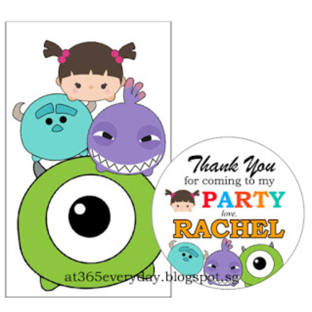 Party tube favor disney tsum tsum monster inc home for Home party tube