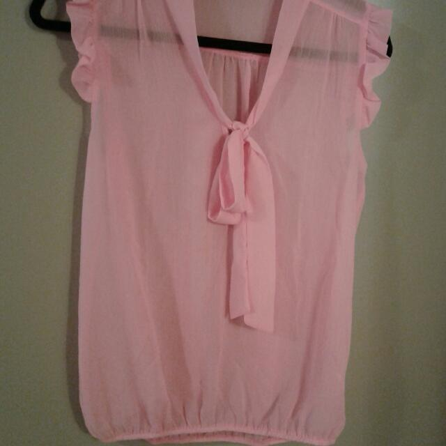 Pink Blouse Size M