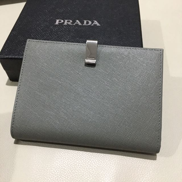 7a9d2ba74485 Prada saffiano leather Passport holder+wallet, Luxury, Bags & Wallets on  Carousell