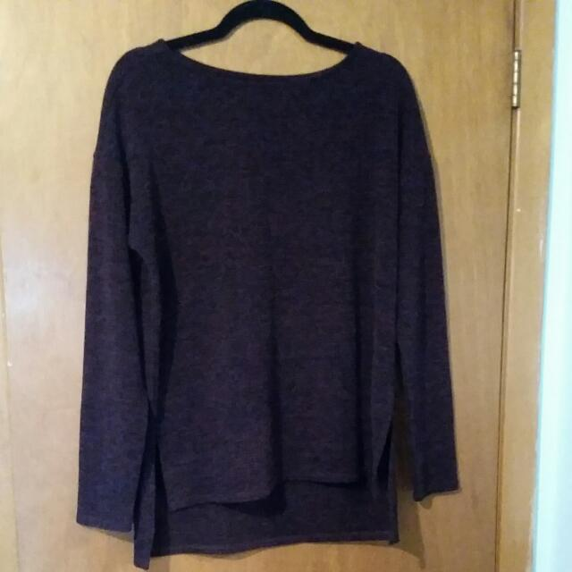 Purple And Black Speckled Oversized Sweater