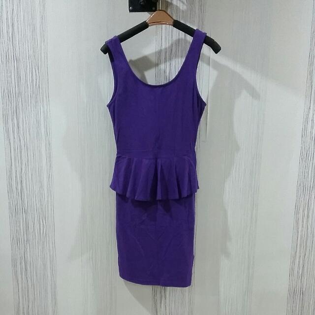 Purple Peplum Dress Size XS-S