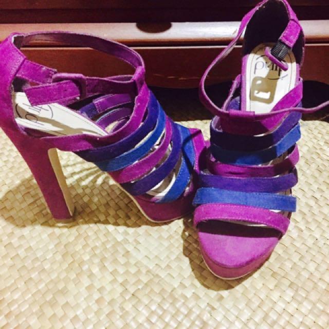 Purple&Blue Heels