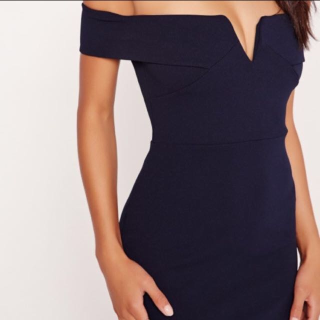 RENTING Missguided Navy Formal Dress
