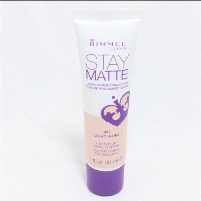RIMMEL STAY MATTE LIQUID MOUSSE FOUNDATION (LIGHT IVORY), Health & Beauty, Makeup on Carousell