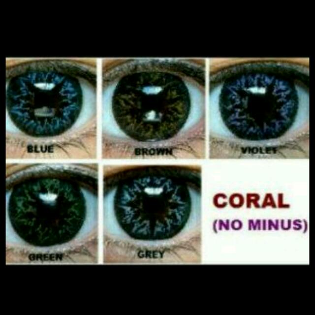 Sale Softlens Coral No Minus