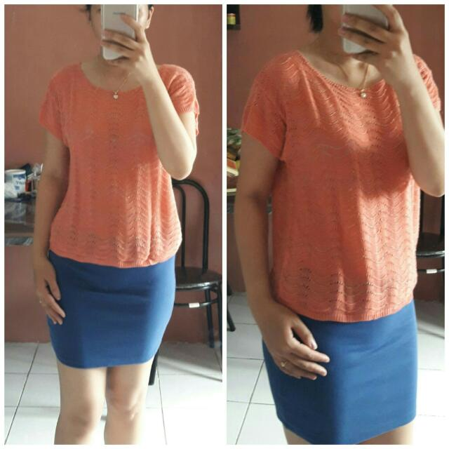 SALE STOCK - PRELOVED KNITTED PEACH TOP