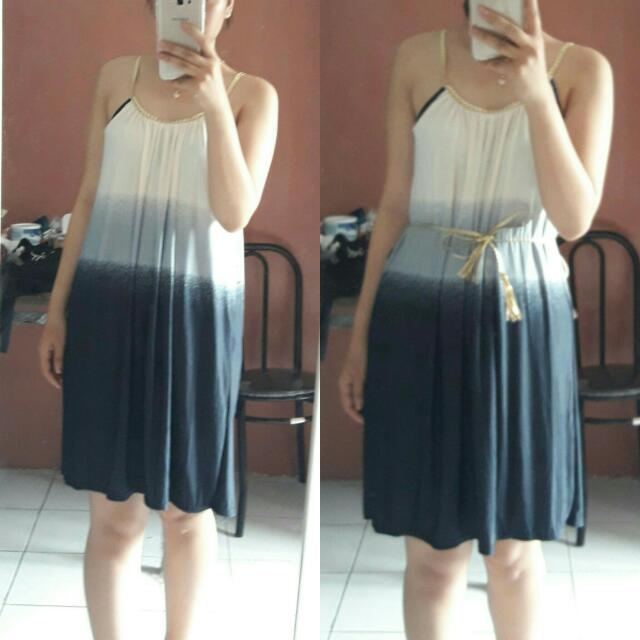 SALE STOCK - PREMIUM 3 TONES THAILAND DRESS WITH BELT