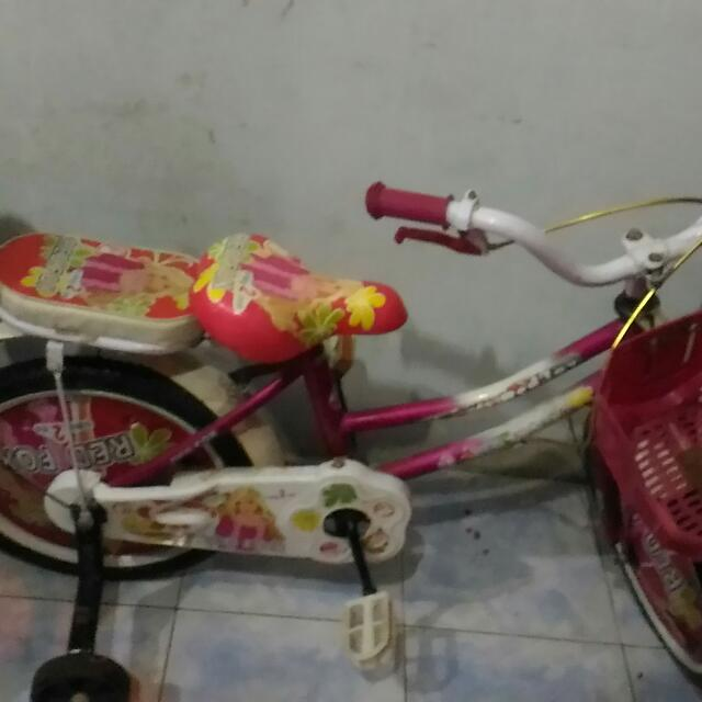 Sepeda Red Fox Merah Usia 4 Th Keatas
