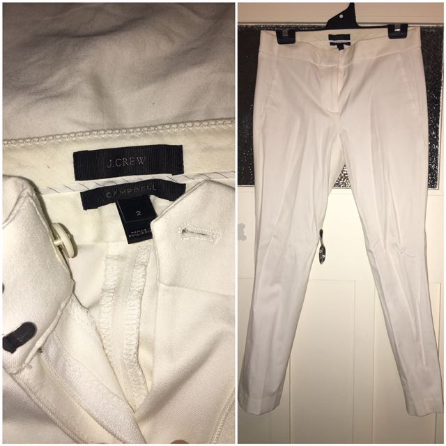 Size 2US/6AUD JCrew White Pants