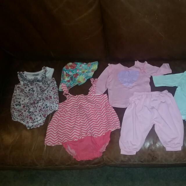Size Range 0-3months 3-6months 6-12months Variety Of Baby Clothes