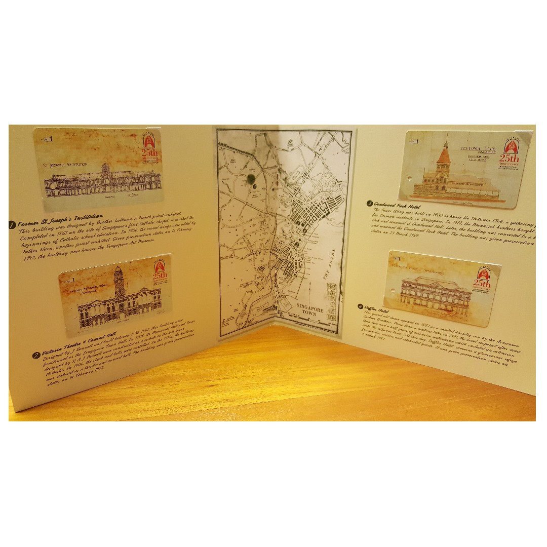 Limited edition Singapore MRT Transit Link - Preservation of Monuments Board
