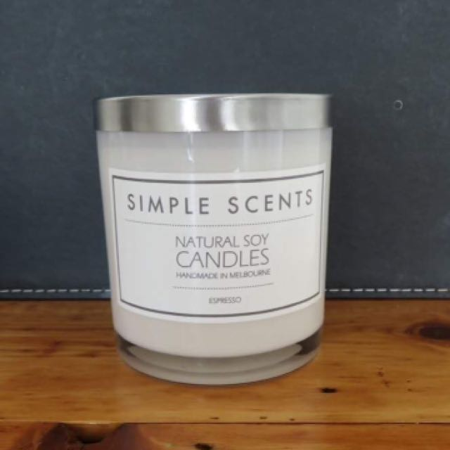 Soy Candle - Espresso - Simple Scents