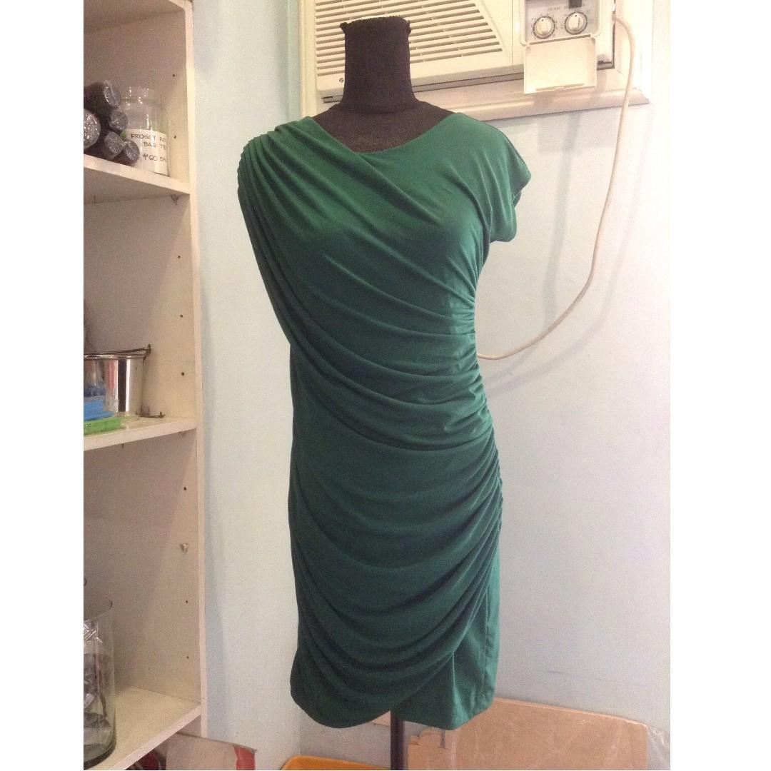 Sylvia Pinero Green Asymmetrical Dress FS