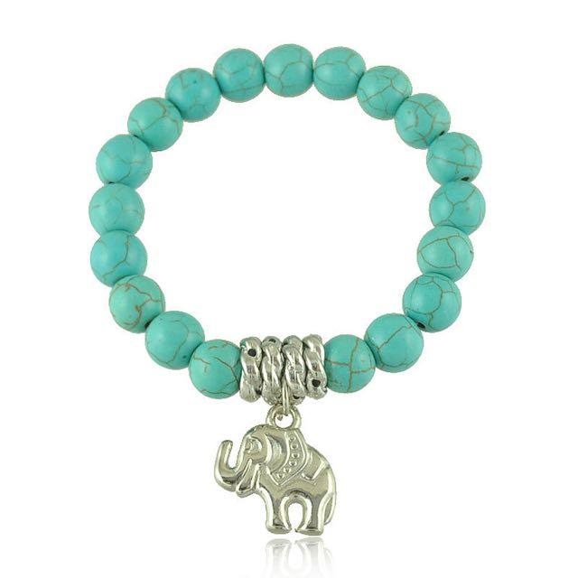 Tibet silver elephant charm bracelet