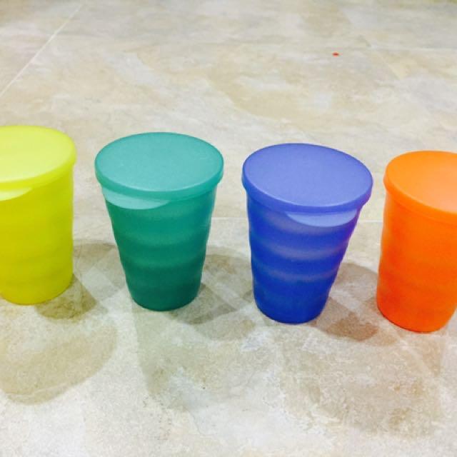 Tupperware Crescendo 330ml Tumbler Cups Mugs With Lids, Home
