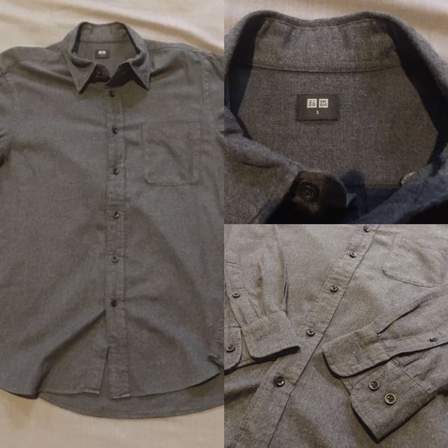 Uniqlo Dark Gray Flannel
