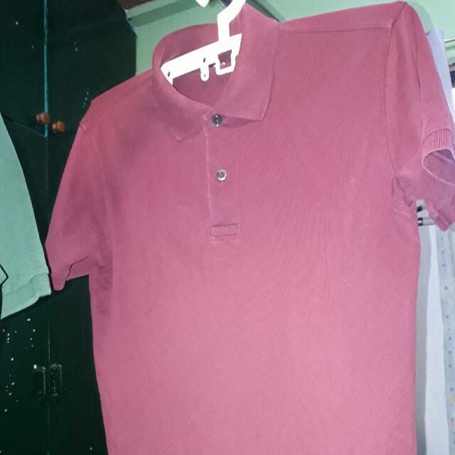 Uniqlo Maroon Polo-Shirt