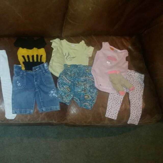 Variety 13x Of 3-6months Baby Clothes Including Jeans And Tights