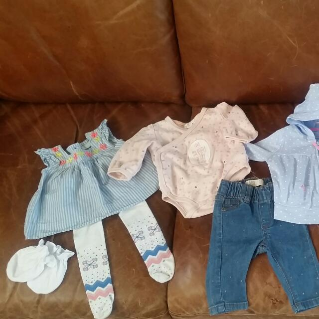 Variety of Baby 0-3months  Pink/blue Clothes