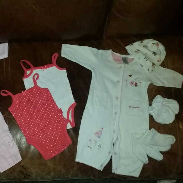 Variety Of Baby Clothes New Born/0-3months
