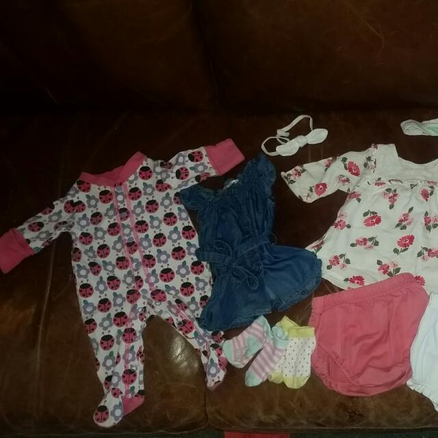 Variety Of New Born Clothes