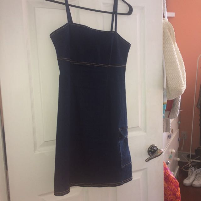 Vintage Jean Mini Dress