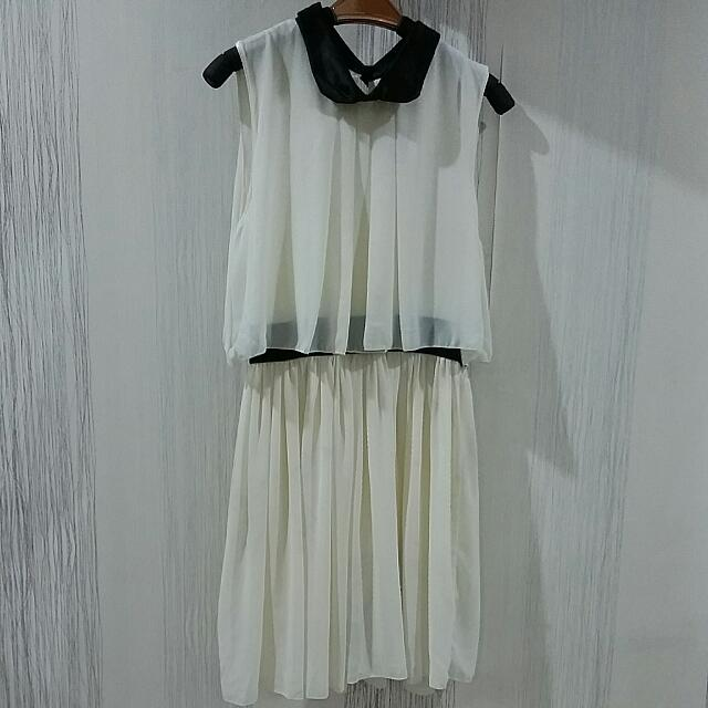 White Cocktail Dress Size XS-S