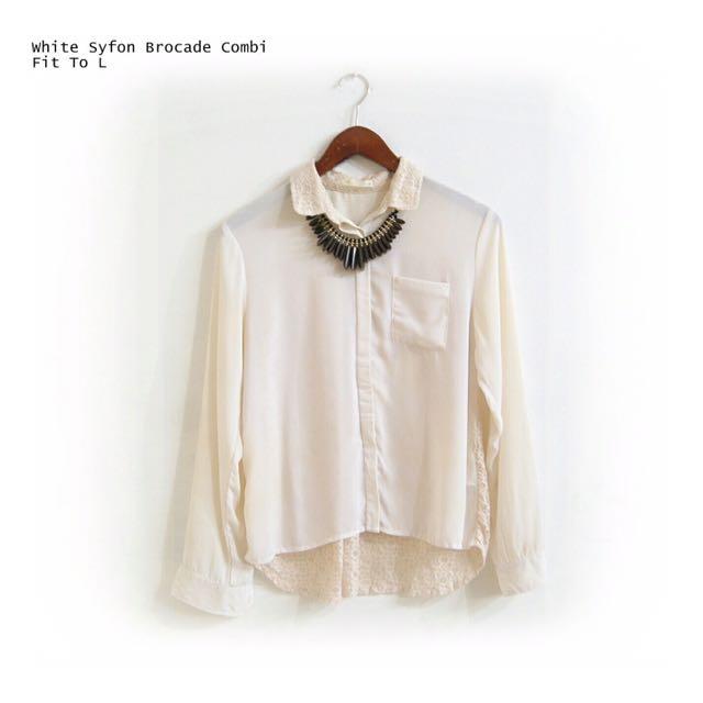 White Syfon Brocade Combi
