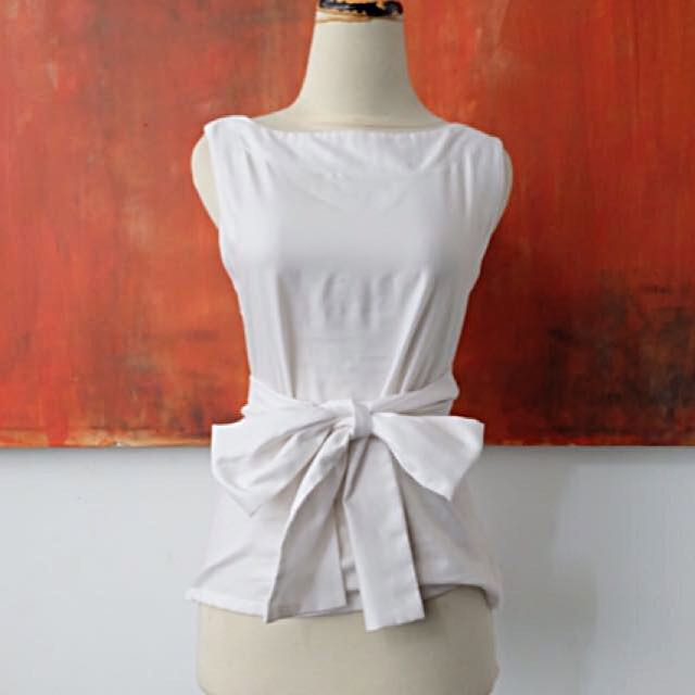 White Top With Ribbon
