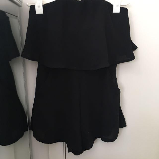 Whitefox Boutique Black Playsuit
