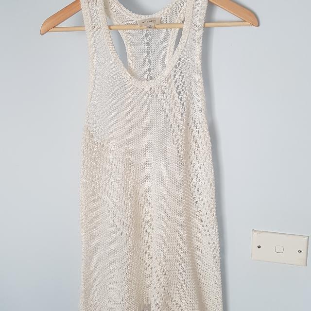 Witchery White Crochet Top
