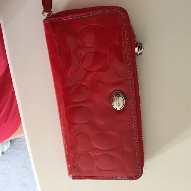 WOMENS COACH WALLET (RED)
