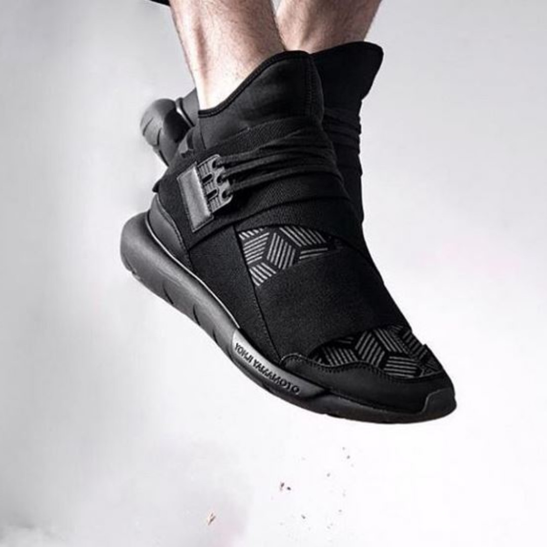 Y3 Qasa Printed Nylon High Top Sneakers