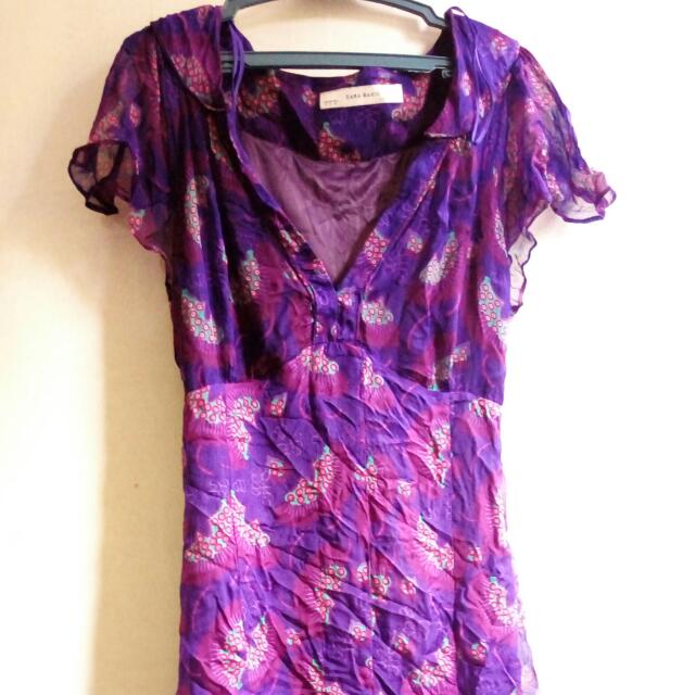 Zara Basic Purple Floral Dress