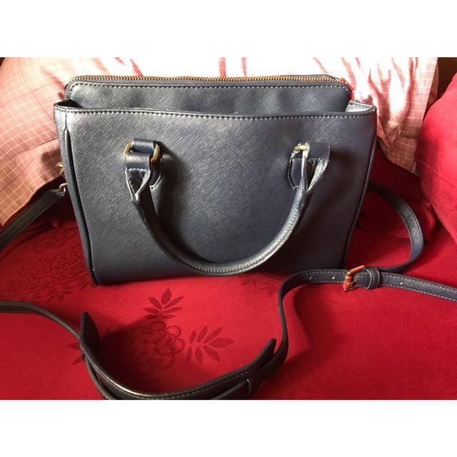 Zara Sling Bag Dark Blue