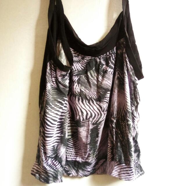 Zebra print crop top