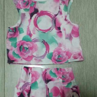 Floral Dress Terno Size 2 To 3 Yrs Old,