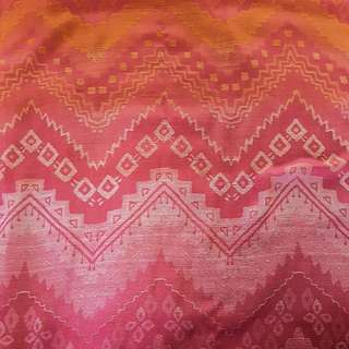 Forever 21 Pink and Orange Aztec Print Scarf