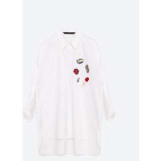 Zara Popcorn Patch Shirt