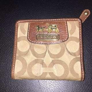 Brown Mini Coach Wallet