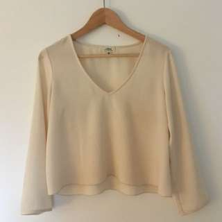 Silky V-Neck Blouse / Size: XS / Brand: Wilfred (Aritzia)