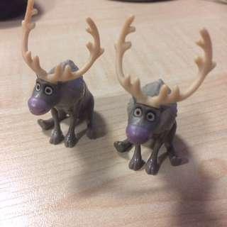 冰迪士尼雪奇緣麋鹿公仔共兩隻