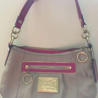 Coach Pink And Light Brown Signature