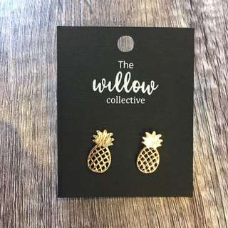 Gold Pineapple Studs