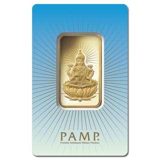 10 gram PAMP Suisse Gold Bar - Lakshmi (in Assay) .9999 Fine