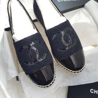 Chanel Black Espadrilles 37 - VERY HARD TO FIND