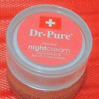 Cream Pemutih Dr-Pure Ekstrak Sakura Night BPOM 18140101423