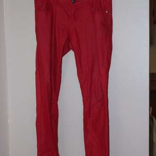 Red Pleather Pants
