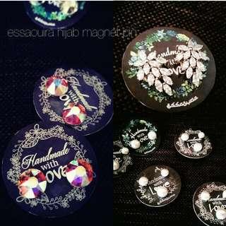 Essaouira Hijab Magnet Pin 💯 Swarovski Stones & 💯 Borneo Pearl